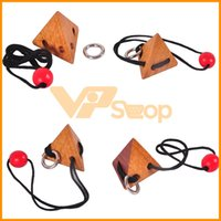 Wholesale games wood toys resale online - Wood String Rope Ring Puzzle Game Smart Logic IQ Brain Teaser Mind Game String Puzzles for Adults Kids Educational Intelligence Toys