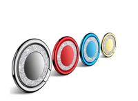 bling ring zubehör großhandel-Universal Bling Fingerring Halter Handy Ständer Zubehör Desk Dock Metallhalterung Halterung mit opp Tasche