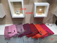 melhores lenços de inverno venda por atacado-BL801 # Mulheres Designer de Caxemira Cachecol Carta de Inverno de Qualidade Melhor Impressão Clássico Elegante Senhoras envoltório cachecóis Xailes xales 203 * 68 cm navio rápido