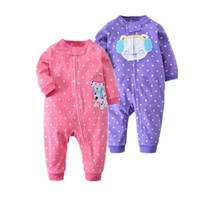Wholesale white infant pajamas for sale - Group buy Orangemom Spring Baby Girl Clothing Fleece Infant Clothes Soft Baby Rompers Cute Cartoon Body Costume For Baby Pajamas J190524