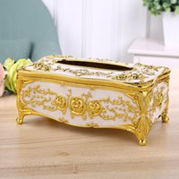 Wholesale Acrylic Tissue Box Universal Luxury European Paper Rack Office Table Accessories Home Office KTV Hotel Car Facial Case Holder