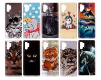 ingrosso copertura iphone pelle animale-Custodia in TPU IMD morbida per Huawei P30 Pro P20 Lite 2019 P Smart Z Y5 Y6 Y7 2019 Wolf Dolphin Unicorn Cat Tiger Animal Cartoon Fashoin Cover in pelle