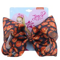 Wholesale christmas hair bows for toddlers resale online - Jojo Siwa Hair Bow Halloween JOJO bow inch Boutique Ribbon Accessories For Girls Baby Toddlers Kids