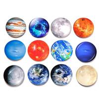 стеклянные магниты на холодильник оптовых-Луна Звезды Планета магнит на холодильник Солнечная система магниты на холодильник стекло Кабошон Наклейки декор Магниты на холодильник Наклейки KKA6834