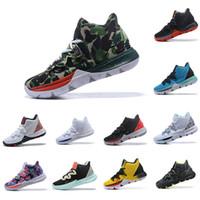top toptası toptan satış-Irving Sınırlı 5 Erkekler Kyrie Basketbol Ayakkabıları için 5 s Siyah Sihirli Kyries Chaussures de basket ball Erkek Eğitmenler Sneakers Zapatillas 40-46