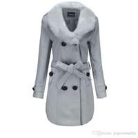 ropa abrigada de moda al por mayor-Plus Size Womens Winter Coats Fashion Casual Tipo de calefacción Slim Long and Warm Fashionable para mujer Abrigos Ropa