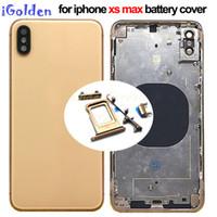 ingrosso sostituzione del pannello iphone-Copertura posteriore originale per iPhone sostitutivo XS MAX XR copertura di batteria di vetro del pannello posteriore Porta Custodia con Logo