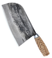 cuchillas chinas al por mayor-cuchillo cuchillo de cocina tradicional hecha a mano chino forjado Cleaver Chef rebanar la carne herramienta de hoja