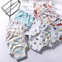 waschbare baumwolltraining hose großhandel-Wiederverwendbare Waschbar 4 Schichten Baby Baumwolle Trainingshose Infant Baby Wasserdicht Wickelauflagen für Mädchen Jungen Stoffwindeln 18 Mt-4 T
