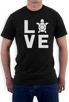 kaplumbağa yenilik hediye toptan satış-Turtles Love - Hayvan Lover Kaplumbağa Yazdır Sevimli Tişört Yenilik Hediyelik Fikir