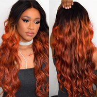 Wholesale two tone hair bundles for sale - Group buy ombre body wave human hair bundles with closure b Two Tone Golden Blonde Brazilian body wave human hair weave extensions for women