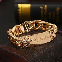 berühmte männer armband marken großhandel-Berühmte Armbänder der R-Markenmänner mit hochwertigem Edelstahl gefrorenem Armband Luxuxdesigner bracciali für Frauen Drop Shipping