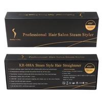 Wholesale hair tourmaline for sale - Group buy KangRoad Hair Straightener Brush Professional Hair Iron Salon Steam Styler Tourmaline Ceramic Flat Irons Hair Iron Salon Steam