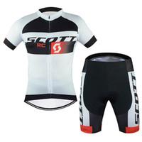 scott ciclismo tops venda por atacado-2019 SCOTT equipe Ciclismo Mangas Curtas jersey shorts conjuntos de Poliéster Venda Quente respirável e de secagem rápida mountain bike Roupas 60910