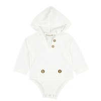 gilet à capuche pour enfants garçons achat en gros de-Baby Rompers Kid Climbing Suit Combinaisons à capuchon bébé Gilet à manches longues Garçon Fille Blanc Gilet Bouton 32