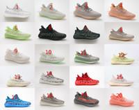 ingrosso super perfette scarpe-Adidas YEEZY 350 V2 scarpe firmate super perfetta qualità V2 GID Hyperspace da uomo donna scarpe da corsa vero da CLAY scarpe da ginnastica firmate statiche scarpe da basket