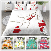 Wholesale red flowered comforter covers full for sale - Group buy Flowers Series Bedding Set Elegant Colourful Comforter Cover Set Twin Full Queen Size Yellow Red Blue of Bedding Cover Suit