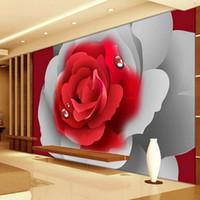 Vente En Gros Fonds D Ecran 3d Rouges Pour Chambre A Coucher 2019 En