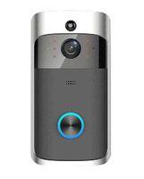porte audio achat en gros de-2019 M3 Vidéo sans fil Sonnette Caméra Anneau Porte Bell Audio bidirectionnel APP Contrôle WIFI Télécommande Domicile HD Moniteur Visible