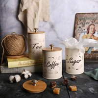 Wholesale tea storage canisters resale online - 1 Set Coffee Tea Box Canister For Kitchen Containers Jars Bottles Candy Sugar Storage Bowl Boxing T200507