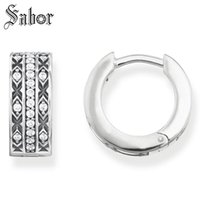 азиатские серьги ювелирные изделия оптовых-Hoop Earring Asian Ornament White party Gift For Women High Quality Earring 925 Sterling Silver Fashion Jewelry