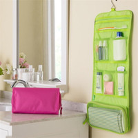 Wholesale folding up beds for sale - Group buy new design roll up folding travel toiletry kit underwear makeup cosmetic wash bag