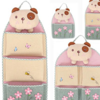 Wholesale wall beds more online - D Bran Bear Multilayer Cloth Storage Hanging Bag Door Hanging Bag Sundries Organizer More Save Space And Beauty Home