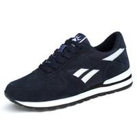 zapatillas de goma zapatos para caminar al por mayor-Zapatillas de cuero genuino para hombre WDHKUN Calzado casual transpirable zapatos para caminar al aire libre antideslizantes peso ligero Suela de goma con cordones