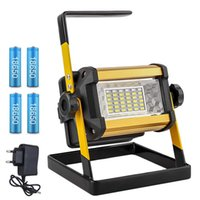 Floodlight 50W LED Spotlight Flood Light Outdoor LED Projector Reflector Bouw lamp Construction Lamp Rechargeable 18650 Batteries