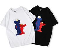 x männer kleidung großhandel-neue Liebhaberhemden Mann beiläufiges T-Shirt kurze Ärmel UNIQLO X KAWS X SESAME STREET L Mode Mantel Kleidung T-Shirts Outwear T-Shirt Spitzenqualität