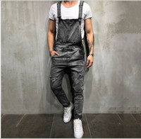 Wholesale men s wild pants resale online - Mens jeans luxury designer men jean pant street trend hip hop straps trousers high quality men designer pants fashion casual wild sweatpant
