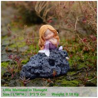 ingrosso regali di terrario-Everyday Collection Miniature Fairy Garden e Terrarium Little Mermaid Aquarium Decoration Regalo per bambini