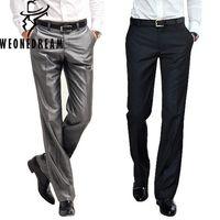 pantalones masculinos recién llegados al por mayor-2018 nueva llegada traje pantalón vestido de hombre pantalones Slim Fit pantalones de vestir para hombre marca de moda negro negocios Blazer pantalones J190420