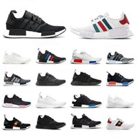 Wholesale military sports shoes resale online - Red Marble R1 Bee Running Shoes Military Green Bred Tri Color OG Classic Men Women Thunder Sports Trainer Sneakers To