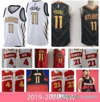 Wholesale top jersey shirt basketball for sale - Group buy 2019 new men Hawks Trae Young Dominique Wilkins Spud Webb High quality Free shopping new Basketball jersey Atlanta