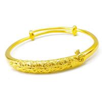vergoldeten pfau armbänder großhandel-Reines Kupfer vergoldet Imitation 18 Karat Gold weibliche Mode japanischen und koreanischen Hochzeitspfau 999 Push-Pull-Armband