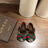 ingrosso arco da ricamo-Toddler ragazza sandali estate Principessa scarpe Bow ricamo Plaid stampa grandi bambini scarpe Sandali ragazze Baotou bambini balletto bambino scarpe bb9