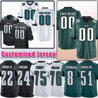 camisetas demarco murray al por mayor-Costumbre Tate III DeMarco Murray Filadelfia Jersey de encargo Hollins Owens Cunningham Águila Barnett Worrilow Thorson Miller Graham Sproles