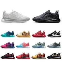 karbon pvc toptan satış-NIKE AIR MAX 720 Shoes  Metallic Platinum running shoes for men women Northern Lights triple black red SUNRISE CARBON GREY DESERT GOLD mens trainers sports sneakers