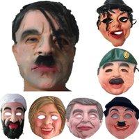 tam maskeli maskeler erkek toptan satış-Yetişkin Cadılar Bayramı Maskeleri Ünlü Adam Yüz Maskesi Tam Yüz Nefes Cadılar Bayramı Masquerade Partisi Lateks Süs Gerçek Benzet Maske