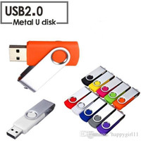 16gb flash-laufwerk reale kapazität großhandel-On discout All discout Hochwertige Qualität Real Capacity Swivel 16 GB-128 GB USB 2.0-Flash-Memory-Stick Pen-Laufwerk Speicher Thumb U Disk