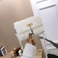 Wholesale newest design fashion shoulder bags resale online - Newest Hotsales Winter Best Outfit Design Women Shoulder Bags with Fur Gorgeous Handbags Lady Girls Chic Fashion Trend Clutch Crossbody Bags