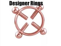 rhodium 925 ringe großhandel-neue 2019 großhandel hersteller ringe für liebhaber mode bronze echt 925 sterling silber festival party billig rosa dreieck swarovski