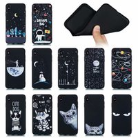 Wholesale unique cell phone cases online – custom Unique Out Space Moon Soft TPU Case For Iphone XR XS MAX X Plus S Cat Dog Lover Earth Sun Star Astronaut Gel Black Cell Phone Cover
