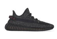 kanye west black оптовых-Черные светоотражающие кроссовки Kanye West Static с коробкой дешевые продажи 2019 Kanye West кроссовки магазин оптом US5-US13
