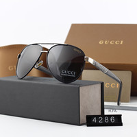 Wholesale fashion polarized men driving sunglasses for sale - Group buy Luxury Mens Sunglasses G4286 Brand Sunglasses Fashion Polarized Sunglasses for Mens Summer Driving Glass UV400 Style with Box