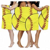 Wholesale long beach towels for sale - Group buy 150 cm Baseball Soccer Beach Blanket Long Towel Bikini Wrap Shawl Microfiber Bath Towels Softball Picnic Mat Sports Ball Table Cloth B5901