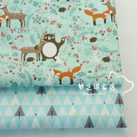 Wholesale forest bedding for sale - 160CM CM Cotton fabric Cartoon Fox Forest Bear Deer trees Fabrics for kids crib Bedding Dress Sheet cushion patchwork fabric