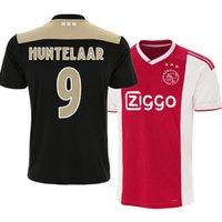 футбольное поле оптовых-Футбольная форма Ajax, домашняя футболка, футболка 18/19, футболка 2019 # 10 TADIC # 21 DE JONG # 4 DE LIGT # 22 ZIYEC