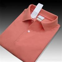 en kaliteli polo toptan satış-Erkekler Tasarımcı Yaz Polo Shirt Erkekler Yüksek Kaliteli Katı Renk Giyim Tişört İşlemeli Polo tişörtler Katı Renk XS-4XL Tops